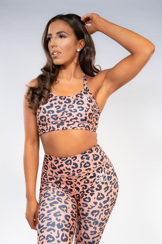 Cub Collection - Leopard Print Leggings - Peach